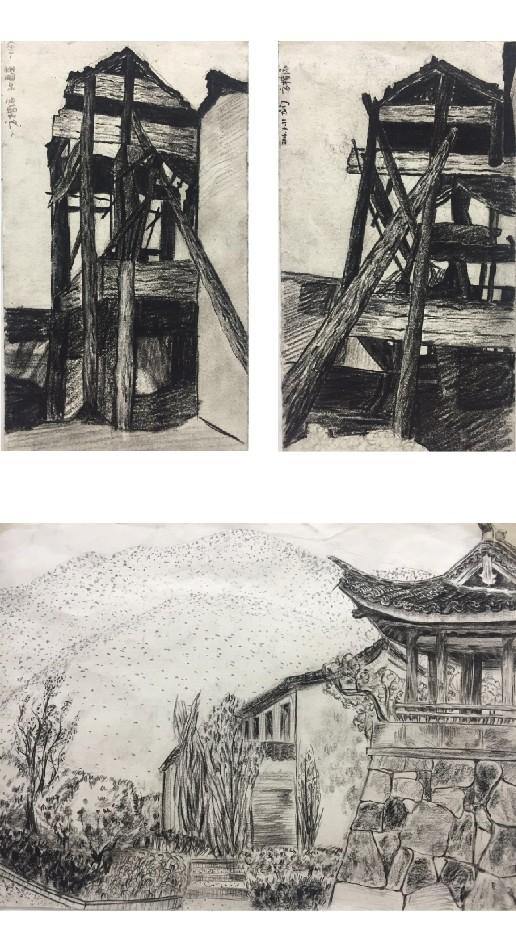 杭七中高一年级 — 速写风景展 | 龙门古镇写生